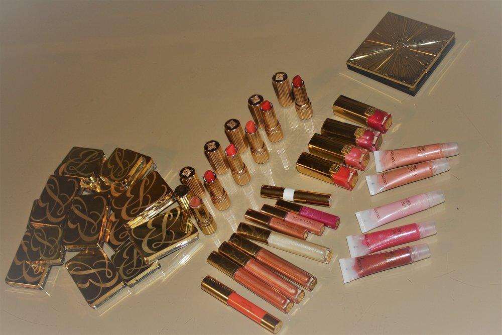 Estee Lauder lipsticks & lip glosses, Lancome lip glosses