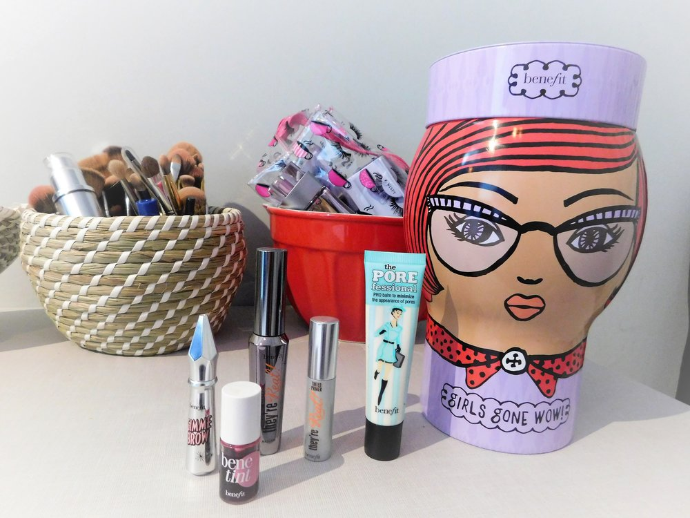 Benefit, They'reReal Primer, They'reReal mascara, Benetint, the Porefessional