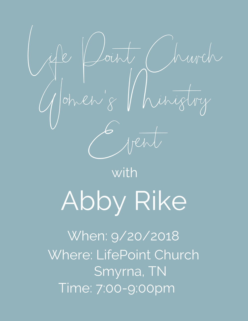 Abby Rike | Christian speaker | Inspirational Speaker
