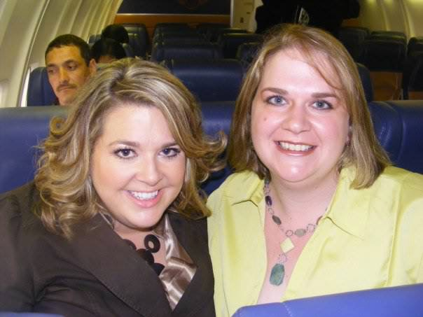 78  Abby and Christy Gregg the day we flew to the Biggest Loser Auditions