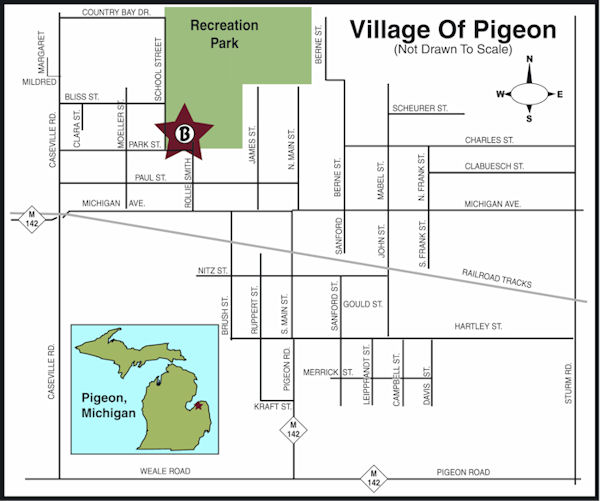 Map of Pigeon