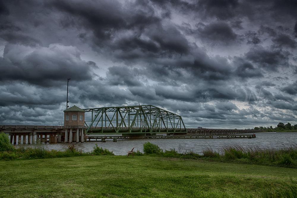 The Houlihan Bridge moments before a tornado hit Garden City, GA.
