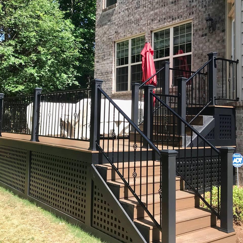wrought iron porch railing