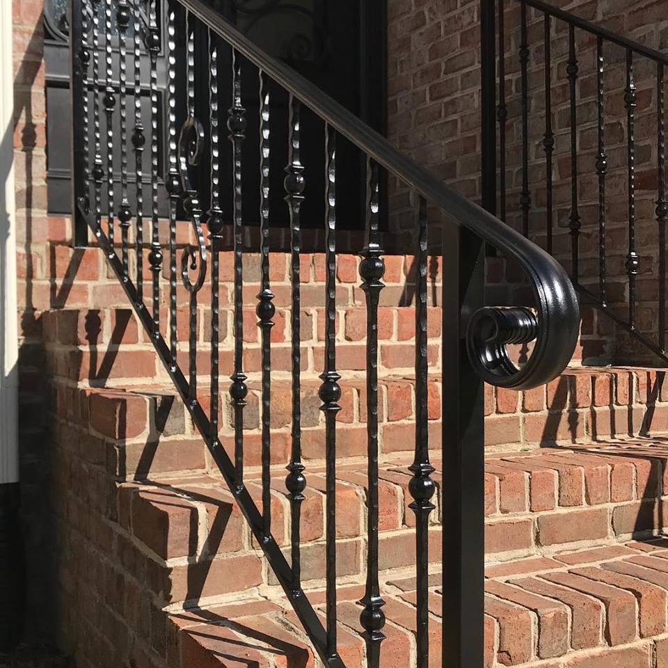 wrought iron stair railing