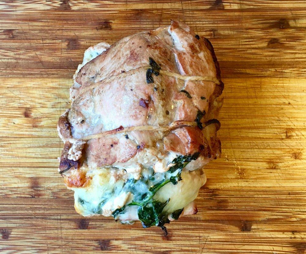 Rolled Pork Florentine