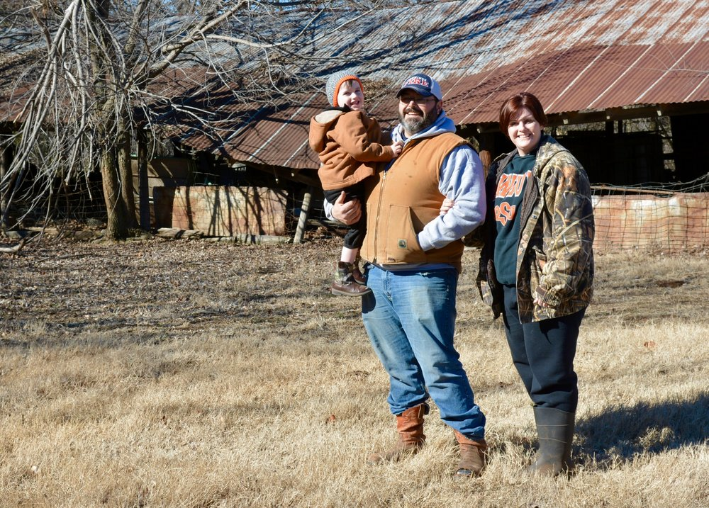 Casey Muse operates Correction Line Farm with his wife Denea, and their son Sam.