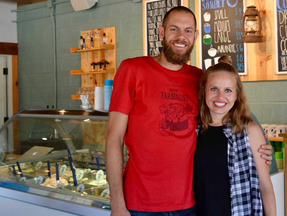 Colby and Kristen Bennett in their store at 724 S. Main in Stillwater. Photo by Sally Asher