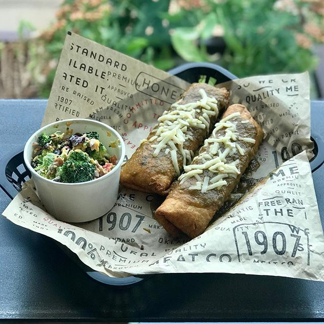 Hold up. Chimichangas for lunch? Yep. This week's lunch special while they last.  #brunchforlunch #eatlocal #whatsforlunch
