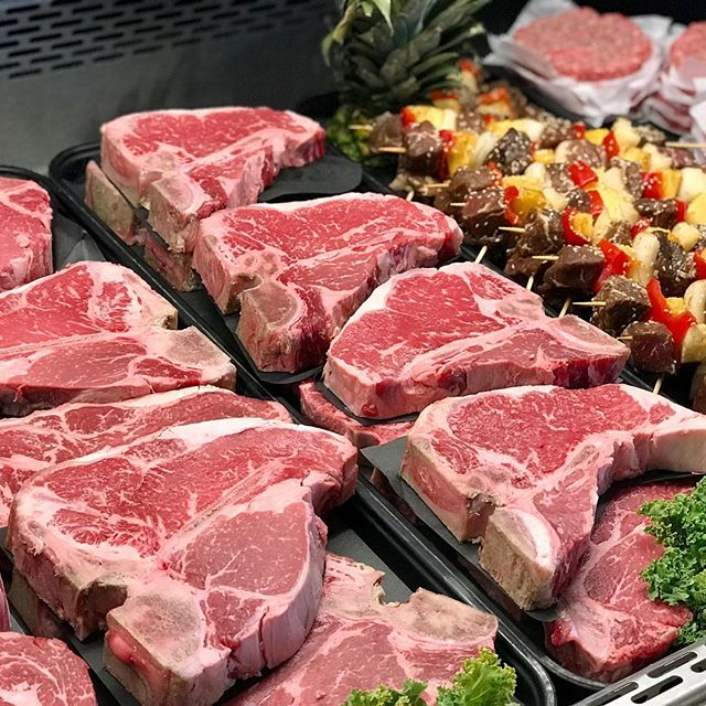 T-Bone and Porterhouse Steaks are 15% OFF this weekend. Pork Spare Ribs too! While supplies last.  #labordayweekend #grillingseason