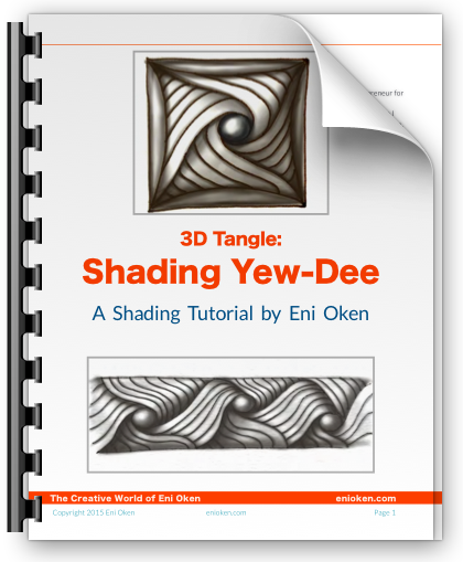 Shading Yew-Dee Ebook - A detailed step-by-step 31-page tutorial ebook on how to shade the tangle Yew-Dee. You'll understand exactly how this complex tangle can be shaded!