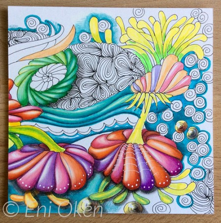 Color study Zentangle by Eni Oken
