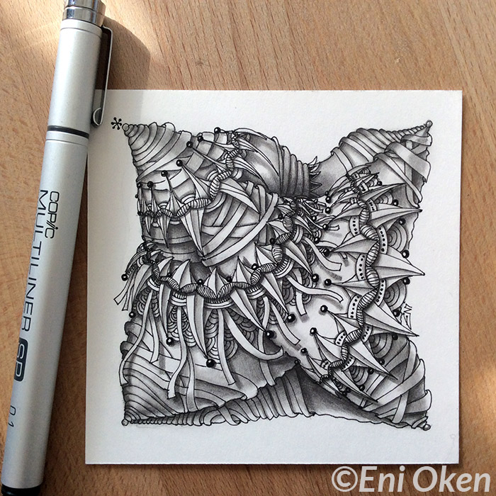 Zenith tangle, shaded by Eni Oken • enioken.com
