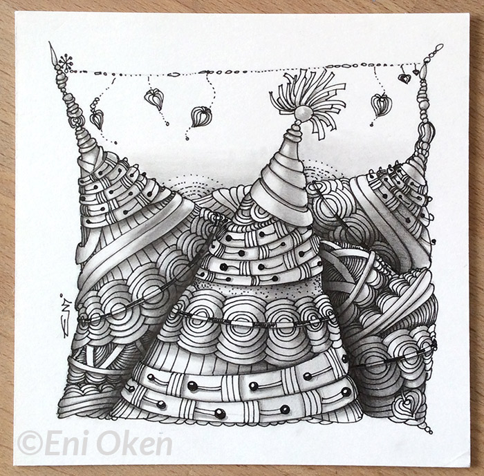 Shading Zentangle® with Eni Oken • enioken.com