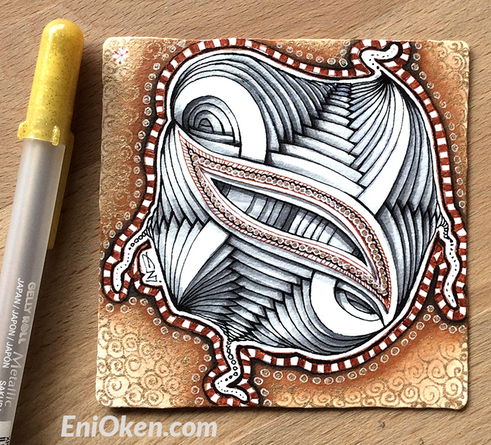 Learn to shade Zentangle® with CZT Eni Oken • enioken.com
