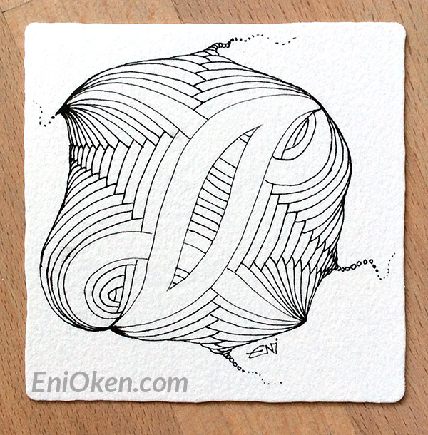 Learn to shade Zentangle® * Before picture • enioken.com