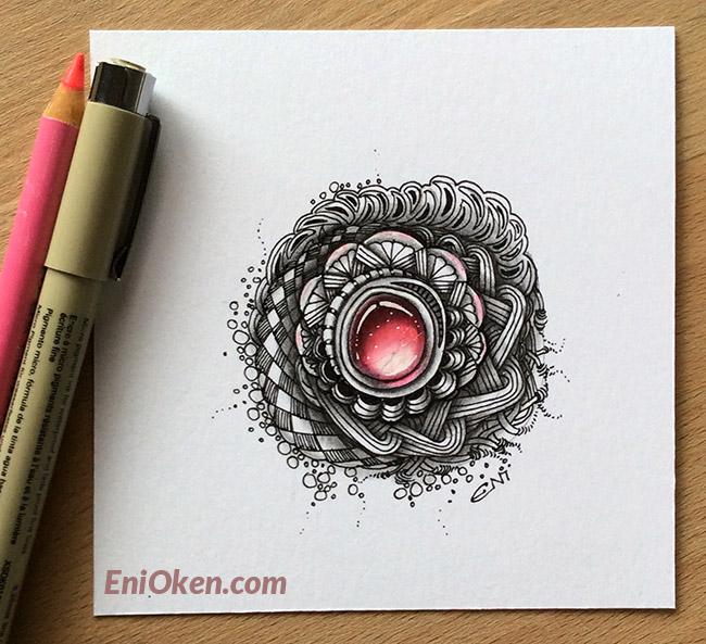 Learn to draw beautiful Zentangle® jewels • enioken.com