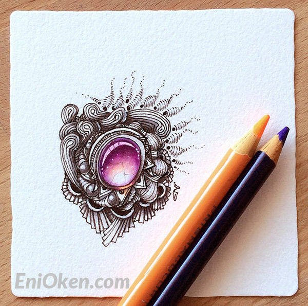 Learn to draw beautiful Zentangle® jewels • enioken.com