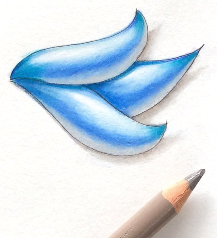 Learn how to produce smooth shading with colored pencils • enioken.com
