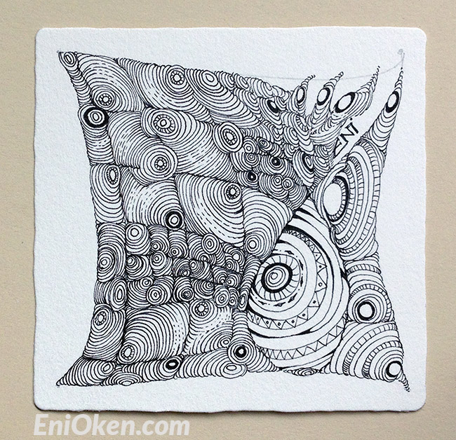 Learn how to shade and create amazing Zentangle® • enioken.com