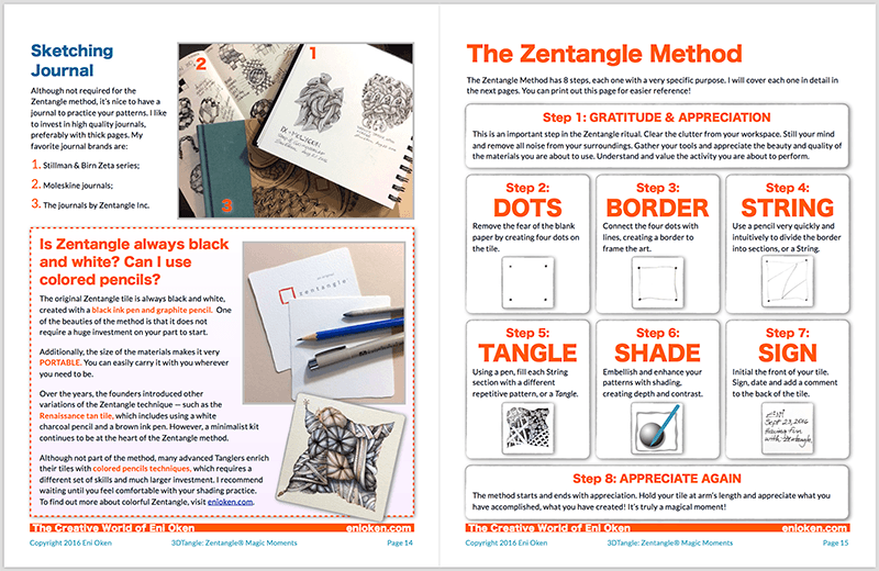 Learn to create amazing Zentangle • enioken.com