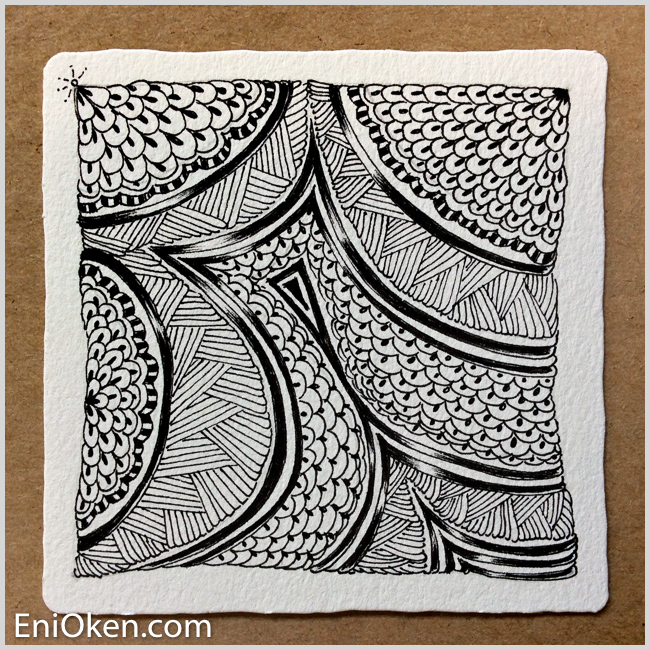 Learn how to draw amazing Zentangle® • enioken.com