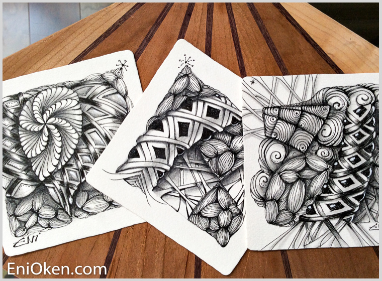 Learn how to create amazing Zentangle® with Eni Oken • enioken.com