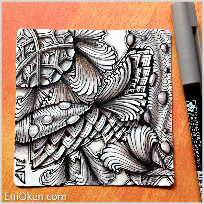 Learn how to create unbelievable Zentangle® shading • enioken.com