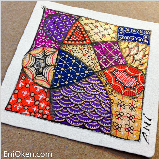 Learn to create sparkling Zentangle® • enioken.com