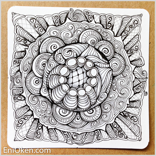 Learn how to make amazing Zentangle® • enioken.com