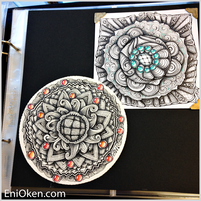 Learn how to create awesome Zentangle® • enioken.com