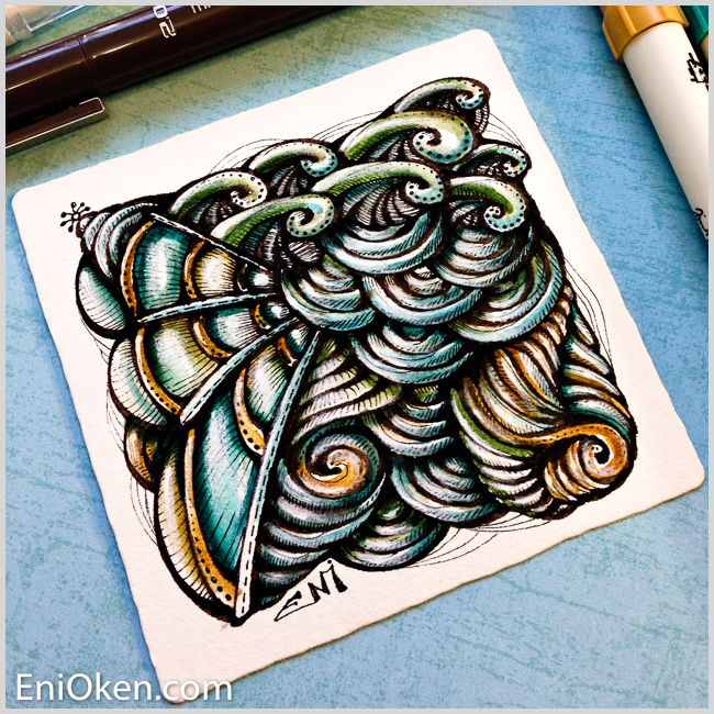Learn how to create amazing Zentangle® * enioken.com
