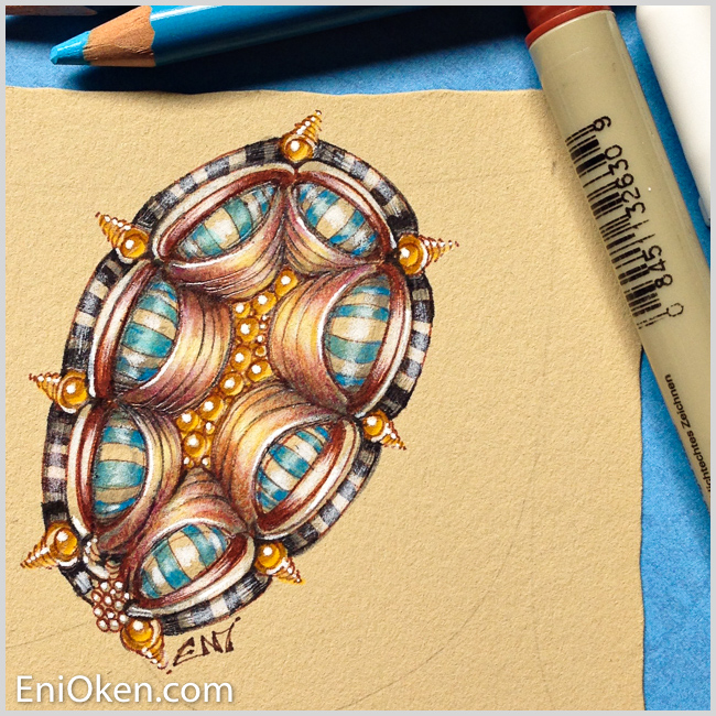 Learn how to color Zentangle® • enioken.com
