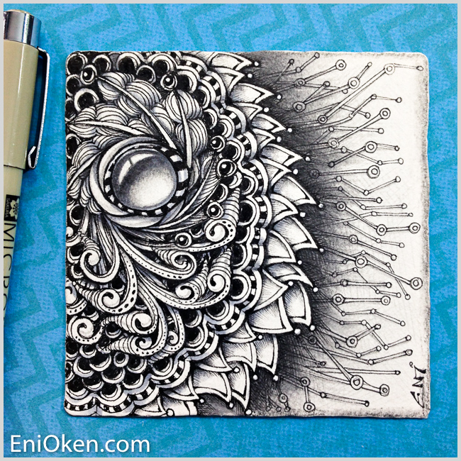 Shading complex Zentangle is possible * enioken.com