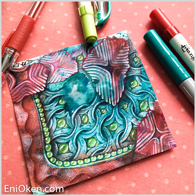 Learn how to create beautiful colorful Zentangle® • enioken.com