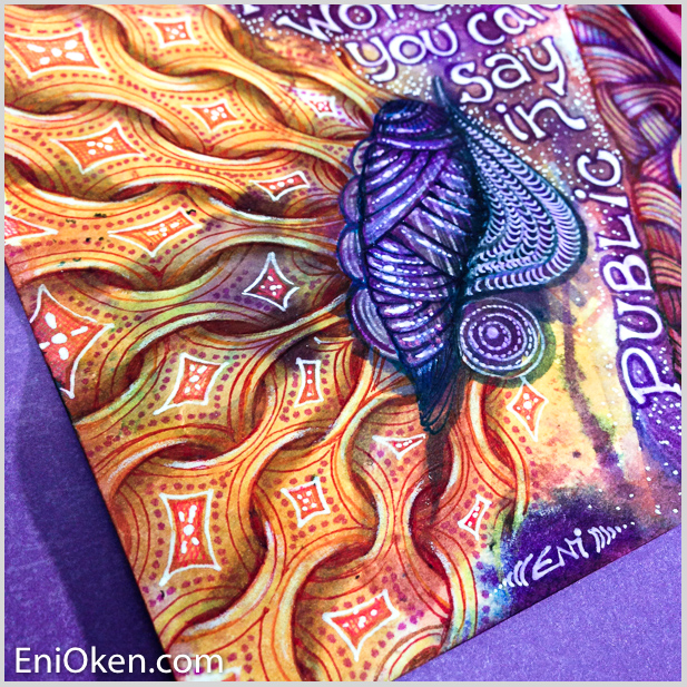 Larn how to create fun Zentangle® • enioken.com