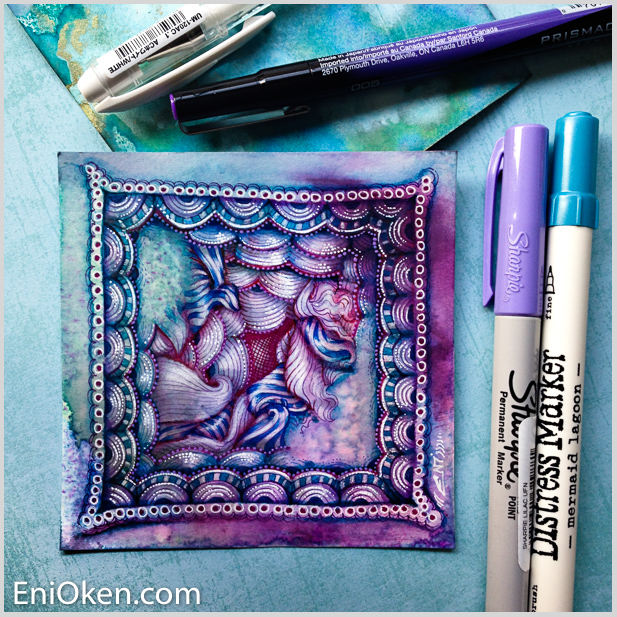 Learn how to create Zentangle® • enioken.com