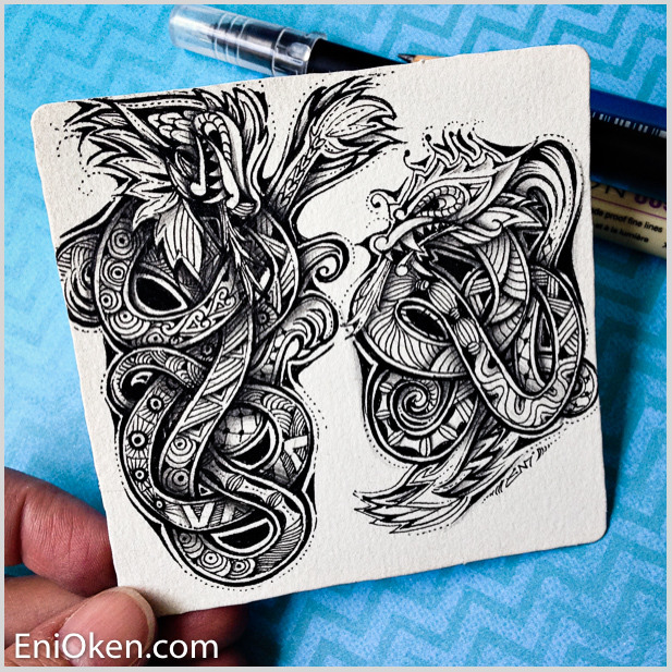 Learn how to draw and create Zentangle® • enioken.com