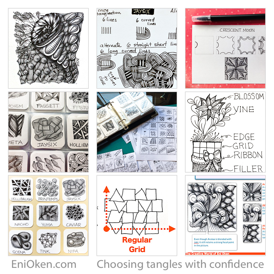 Understand tangle classification and learn how to choose tangles with confidence for your Zentangle® art.