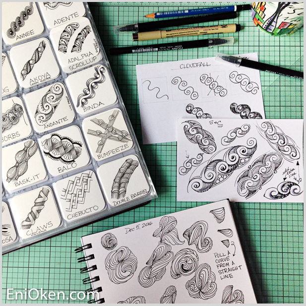 Learn how to select tangles for Zentangle® • enioken.com