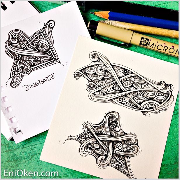 Love creating Zentangle® dingbatz • enioken.com