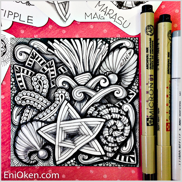 Learn how to create amazing doodles and Zentangle® • enioken.com