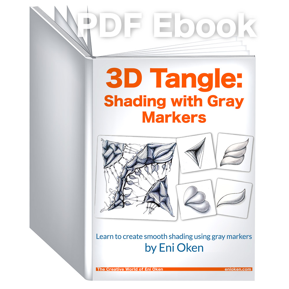 Shading with Gray Markers - If you want to learn how to shade Zentangle and doodles with copic markers, then this is the ultimate book to have.