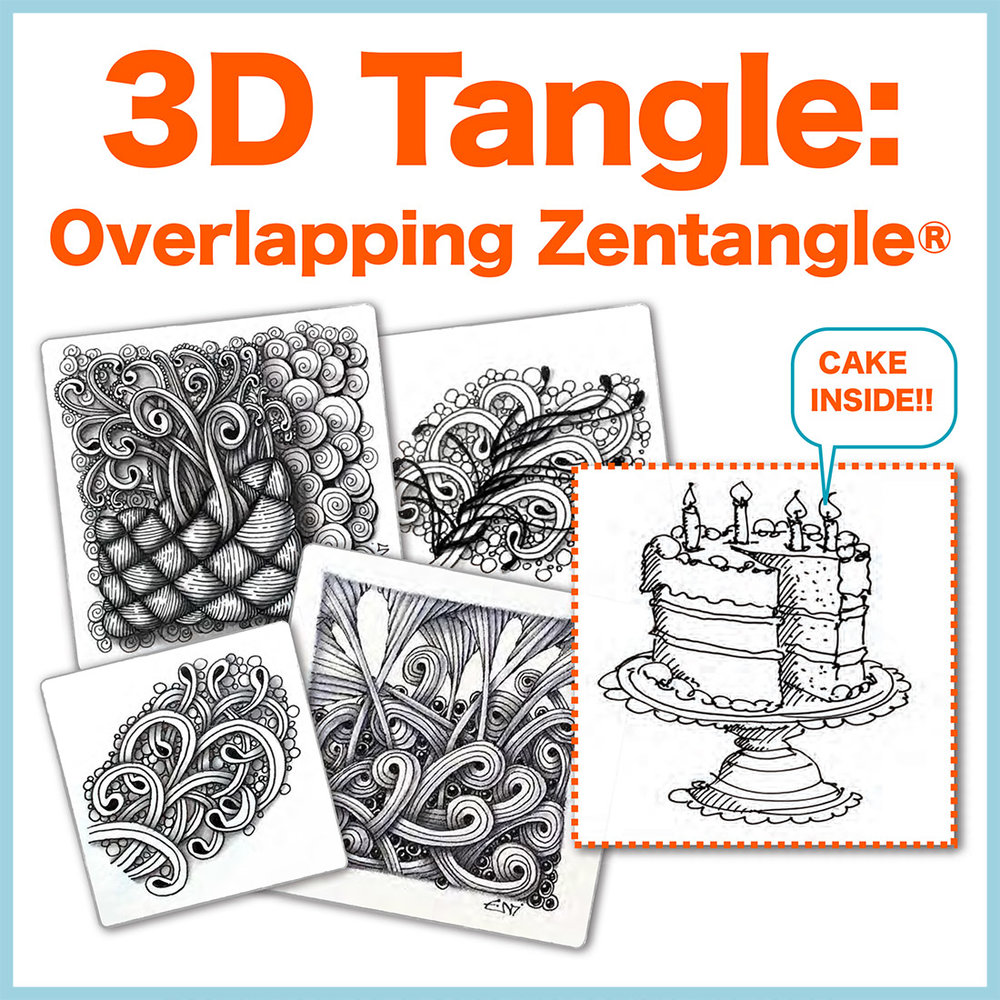 Overlapping Zentangle® PDF Ebook - If you are ready take your Zentangle art to the next level, learn how to create incredibly intricacy through the power of Overlap and Layering. Delivery via email linkLearn more or comment