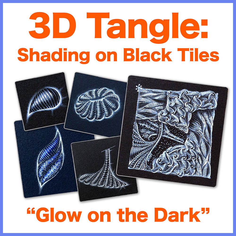 Shading on Black Tiles PDF Ebook - • Detailed steps on how to tangle and shade over black tiles• A unique and exquisite technique of producing luminous and glowing tiles• Several examples, from simple to complex tanglingDelivery via email linkLearn more or comment