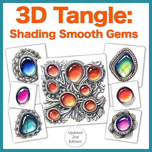 Shading Smooth Gems PDF Ebook - Look all you want, you won't find a better lesson on how to create gorgeous Zen Gems. This is simply the BEST resource on how to create dazzling gems using colored pencils and markers. Delivery via email linkLearn more or comment