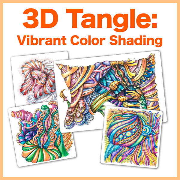 Vibrant color shadingPDF Ebook - Create incredibly vibrant coloring on Zentangle®, ZIA and coloring books using colored pencils and markers. A technique that will change your coloring style!Delivery via email linkLearn more