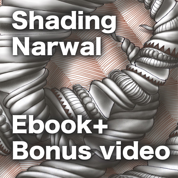 Shading Narwal - PDF Ebook and Bonus Video - Learn how to shade the exquisite tangle pattern Narwal (deconstructed by Sam Taylor). This shading guide shows each step of the shading in red.Delivery via email linksLearn more or comment