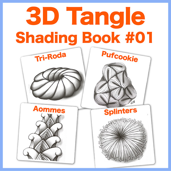 Shading Guide #01PDF Ebook - Learn how to shade four different tangles:  Tri-roda, Pufcookie, Aommes and Splinters. All steps in red so it's easy to follow!Delivery via email linksLearn more or comment