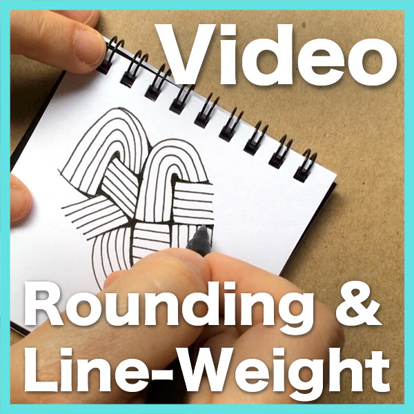 Rounding andLine-WeightVideo - This video can help you understand this subtle technique which can literally change the quality of your Zentangle® drawings and shading.Delivery via email link Learn more about this lesson