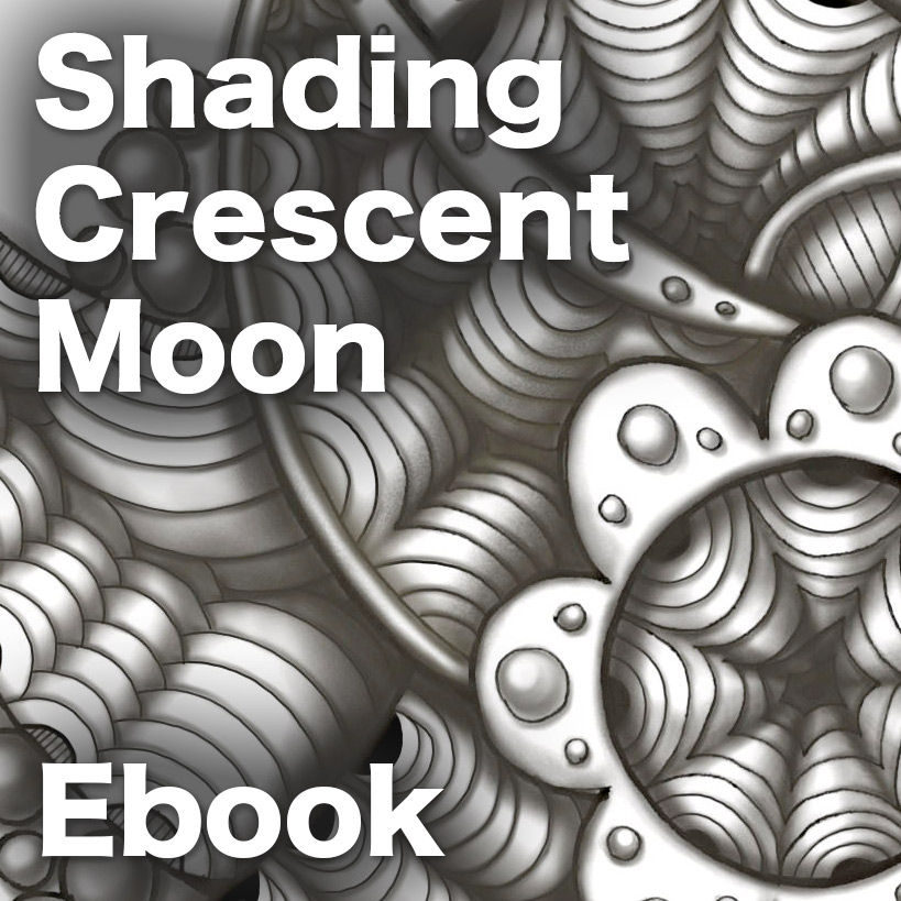 Shading Crescent MoonPDF Ebook - A Shading guide with 41 pages showing exactly how to create incredibly 3-dimensional shading on Crescent Moon. Delivery ia email linksLearn more or comment